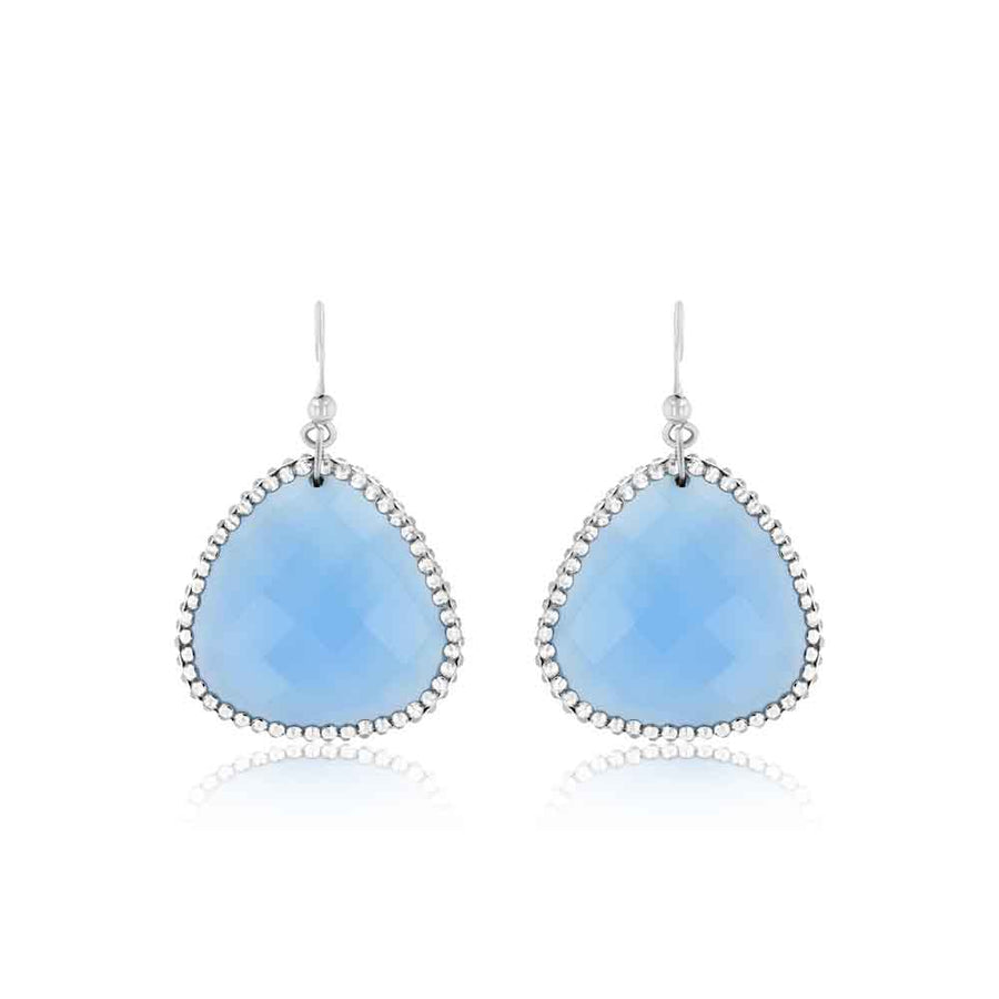 Swarovski And Chalcedony Statement Earrings