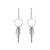 White Gold Diamond Tassel Drop Earrings