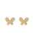 Yellow Gold Diamond Butterfly Stud Earrings