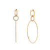Multi Circle Drop Hoop Earrings