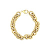 Yellow Gold Round Link Bracelet