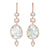Rose Gold Baroque Pearl and Diamond Chandelier Drop Earrings