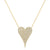 Yellow Gold Diamond Turquoise Heart Necklace