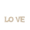 Gold LO VE Stud Earrings