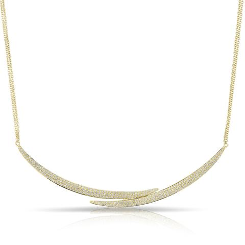Diamond Split Open Bar Necklace