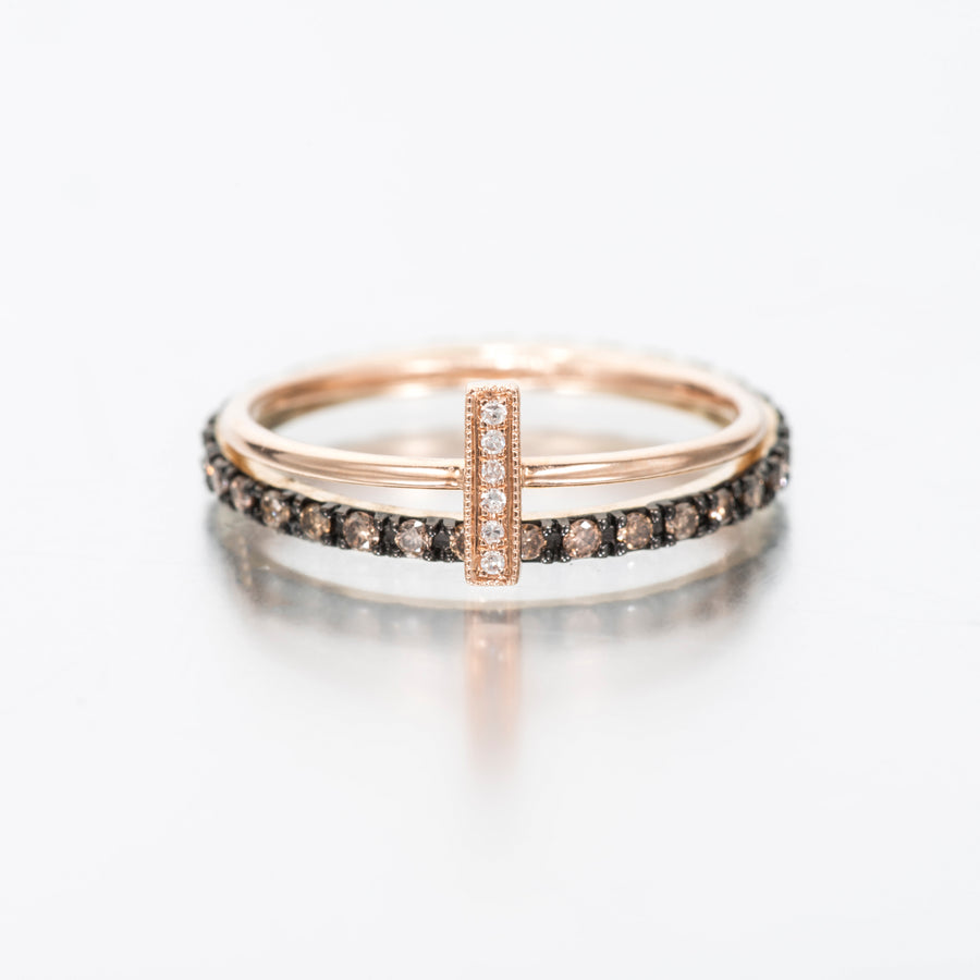 Multi Diamond Eternity Stacking Rings