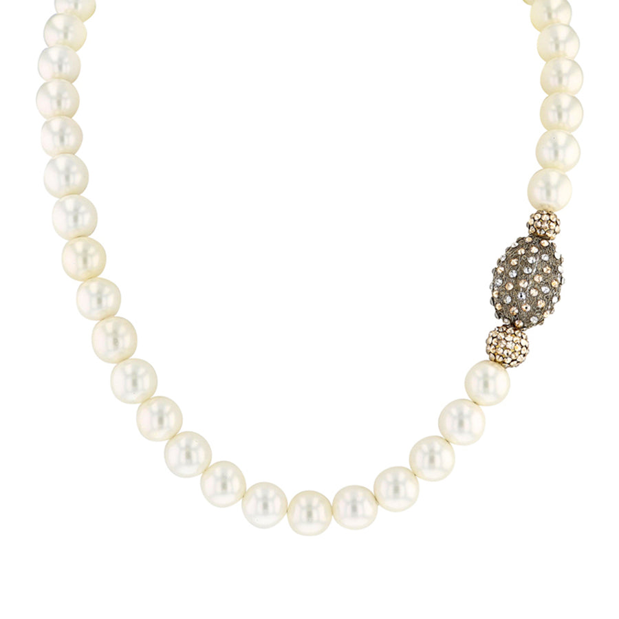 Yellow Swarovski Pearl Necklace