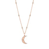 Gold Diamond Moon Pendant Charm