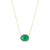 Yellow Gold Diamond Emerald Necklace