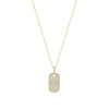 Yellow Gold Diamond ID Tag Necklace