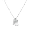 Diamond Love Dog Tag Pendant Charm