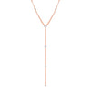 Rose Gold Diamond Multi Disk Lariat Necklace