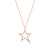 Rose Gold Diamond Open Star Necklace