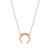Rose Gold Diamond Mini Horn Necklace