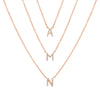 Rose Gold Mini Diamond Initial Necklace