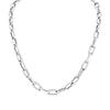 White Gold Chain Link Necklace