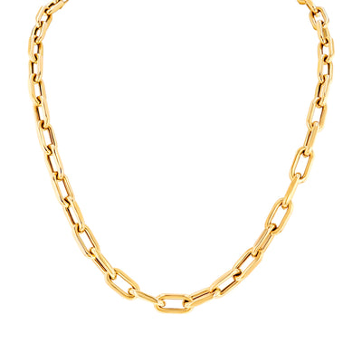 Yellow Gold Chain Link Necklace