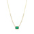 Yellow Gold Emerald And Diamond Necklace