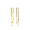 Gold Diamond By The Yard Chain Drop Earrings