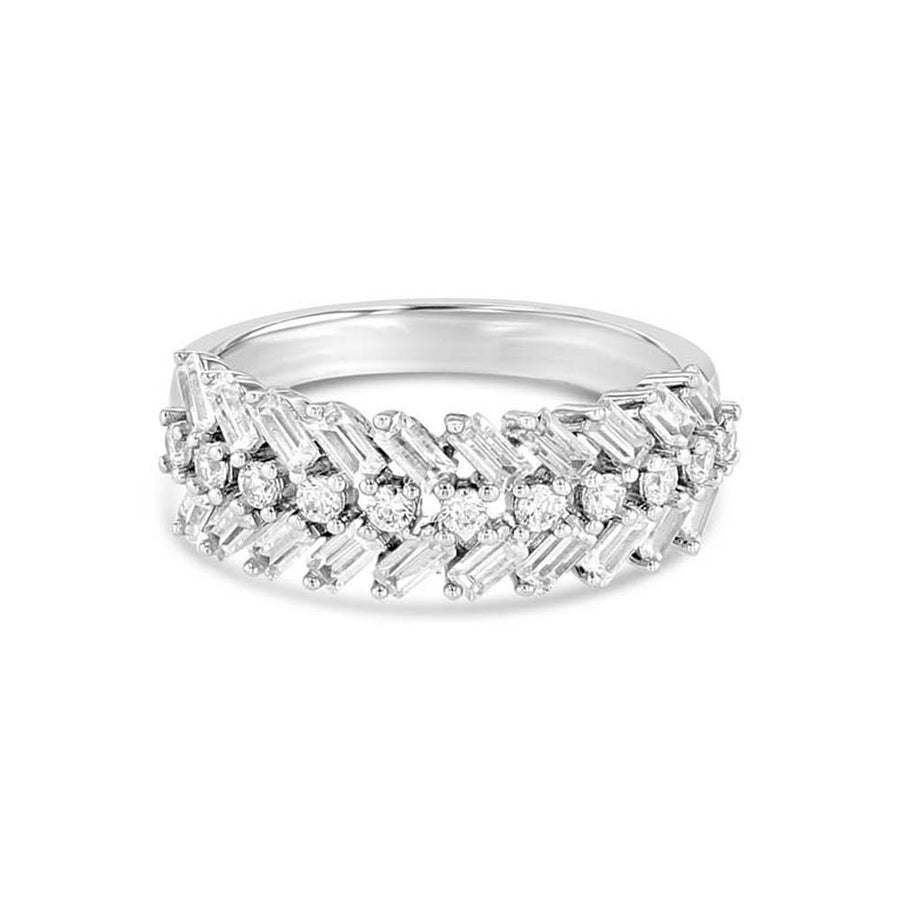 Baguette Half Eternity Ring