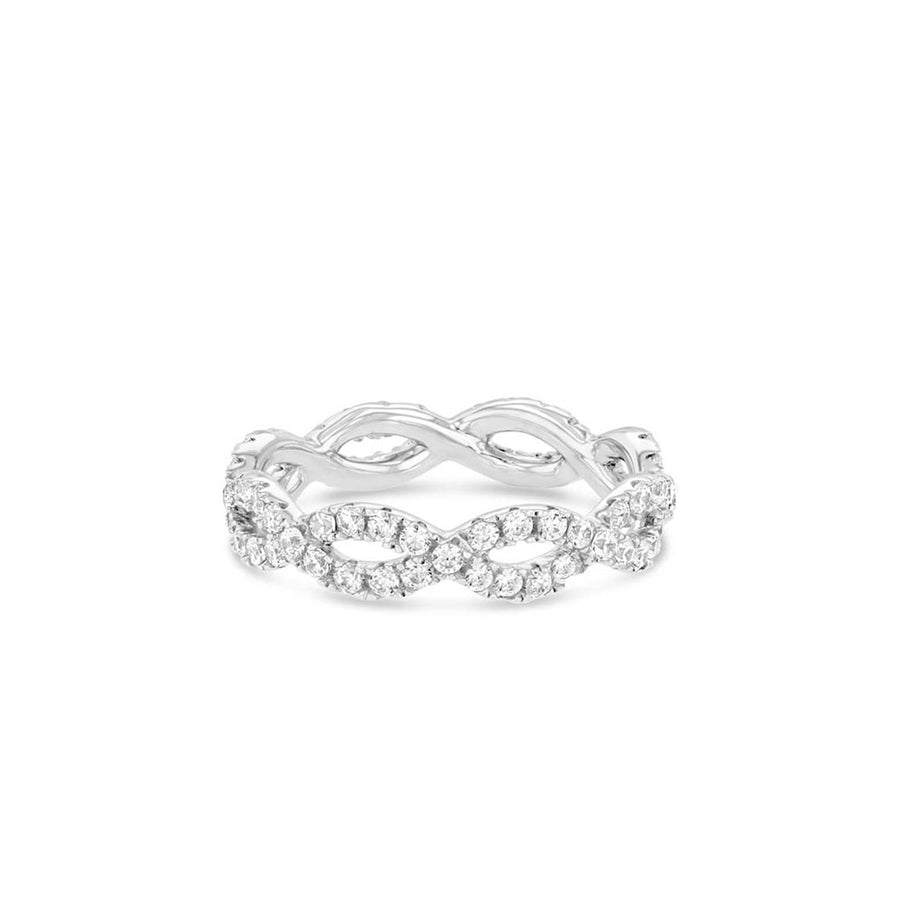 Silver Infinity Eternity Band