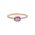 Rose Gold Diamond Oval Pink Sapphire Stacking Ring
