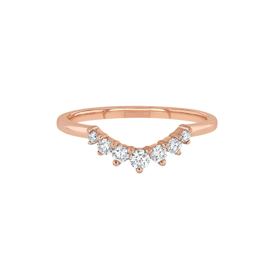 Round Diamond V Ring