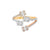 Triple Color Gold And Baguette Diamond Twist Ring