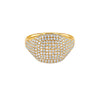 Gold Diamond Cushion Pinky Ring