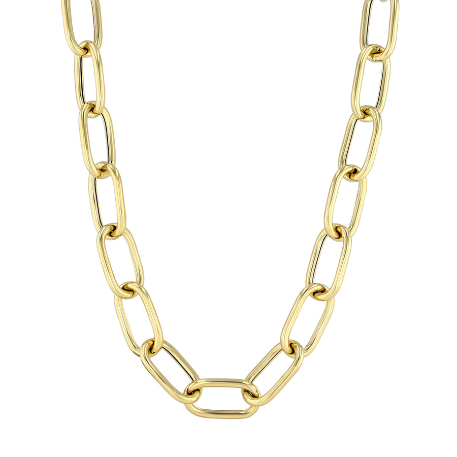 Yellow Gold Large Oval Link Necklace