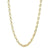 Yellow Gold Small Oval Chain Link Necklace