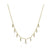Diamond Double Bezel Drop Choker Necklace