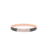 Rose Gold Black And White Diamond Half Eternity Ring