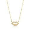 Yellow Gold Diamond Lip Necklace