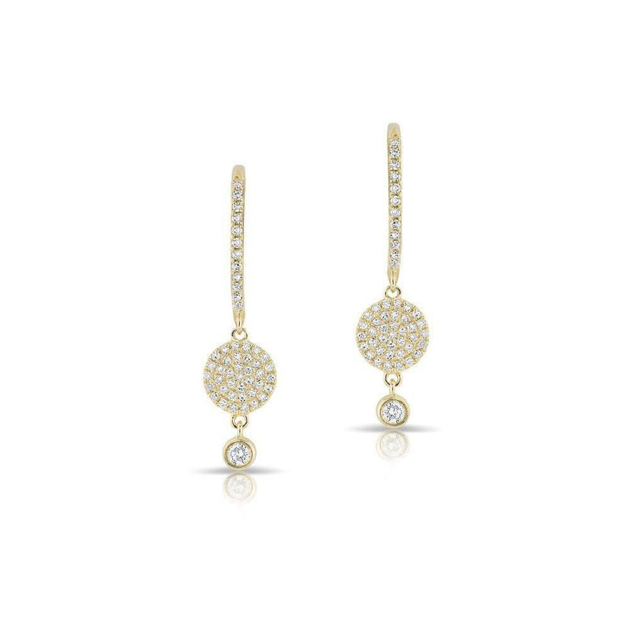 14kt Diamond Drop Mini Earrings