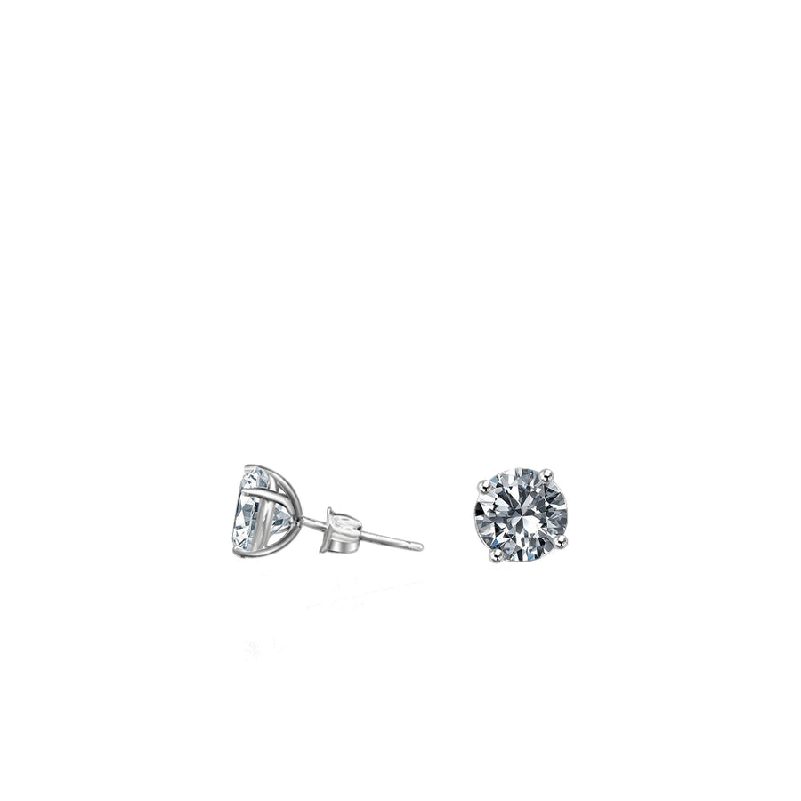 14kt Faux Diamond Stud Earrings