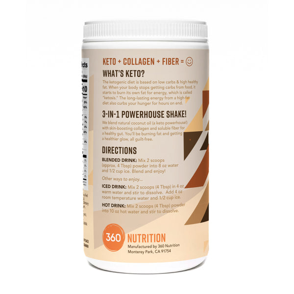 Keto Shake with Collagen, Coffee