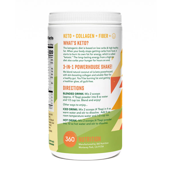 Keto Shake with Collagen, Tropical Mango