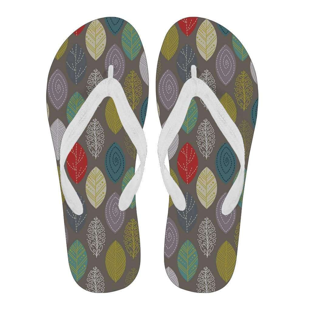 Women's Leaf Design Flip Flops