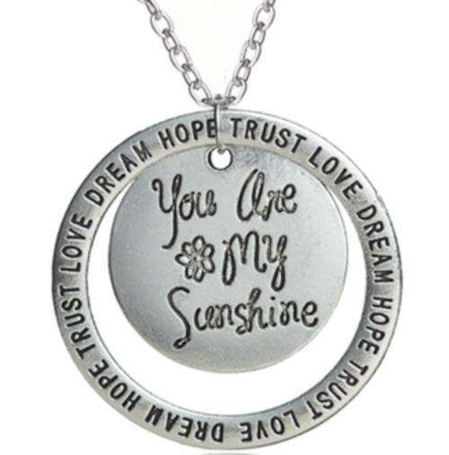 You are My Sunshine Inspirational Necklace