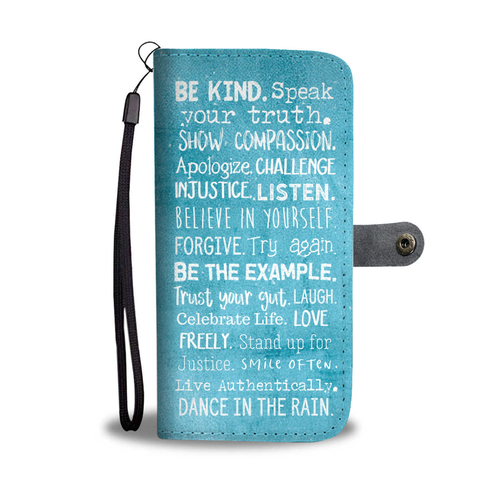 Women's Teal Motivational Wallet and Phone Case