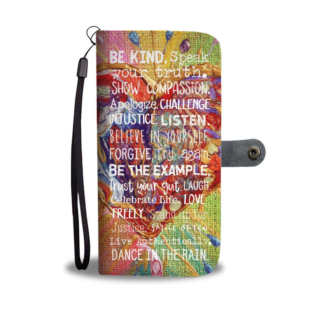 Women's Abstract Hearts Motivational Wallet and Phone Case