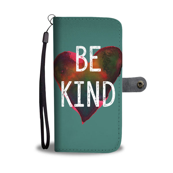 Teal Be Kind Wallet and Phone Case