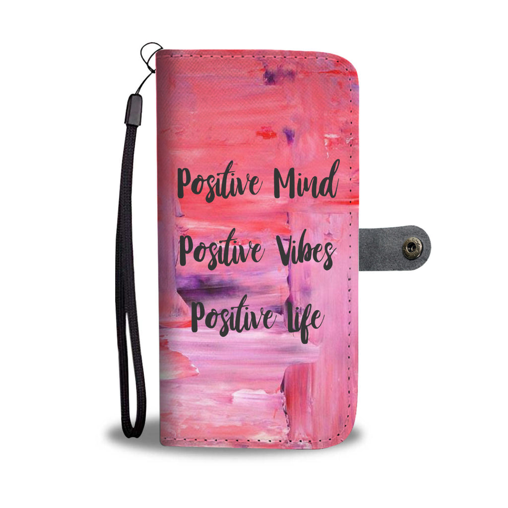 Pink Positive Vibes Wallet and Phone Case