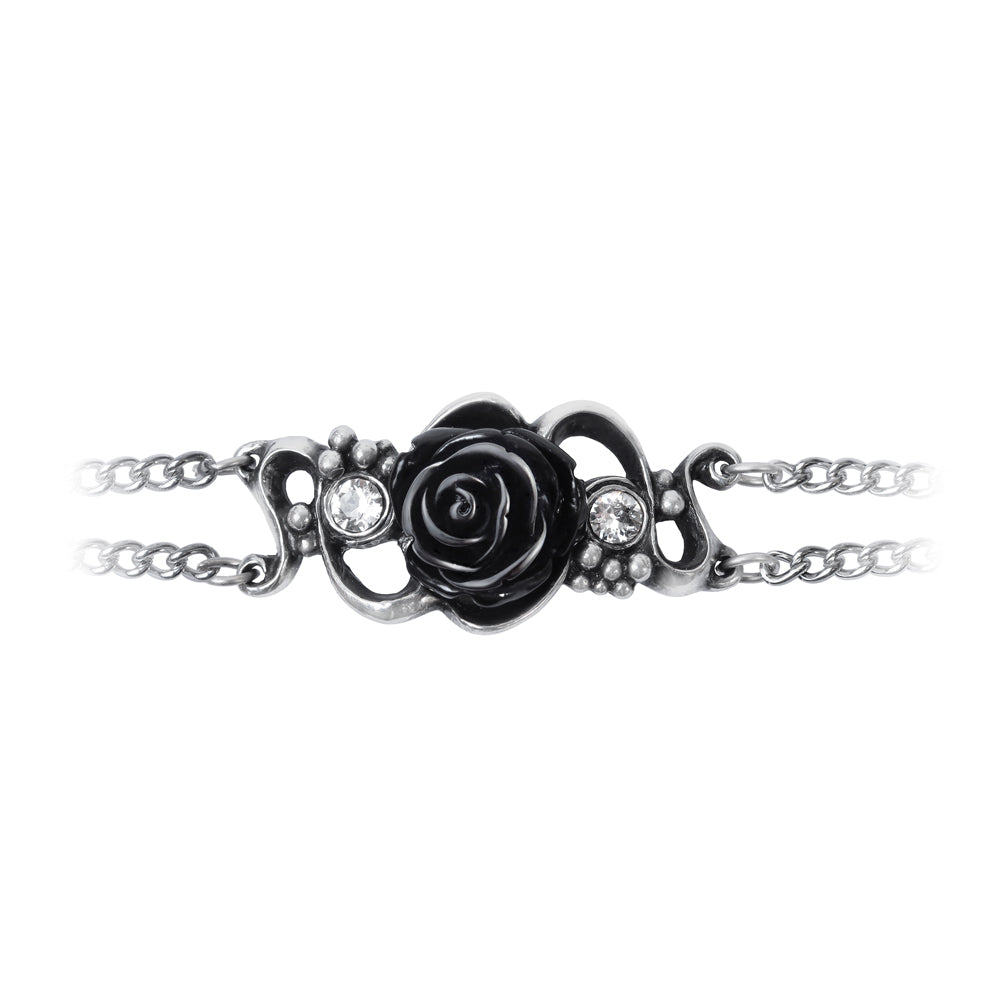 Black Rose Chain Bracelet