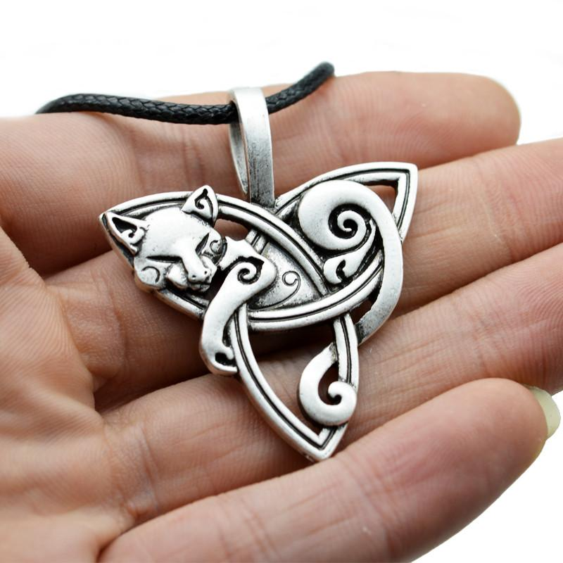 Bohemian Cat / Fox Pendant