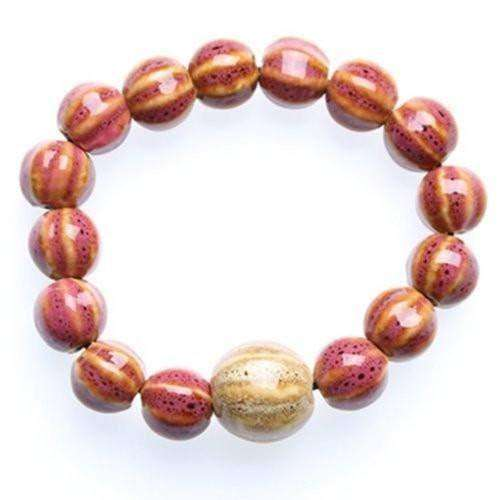 """Circle of Life"" Rose Ceramic Bead Bracelet"
