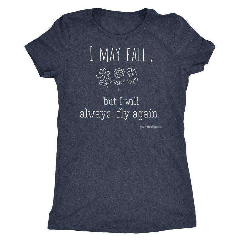 I May Fall Inspirational Women's Soft Vintage Feel T-shirt