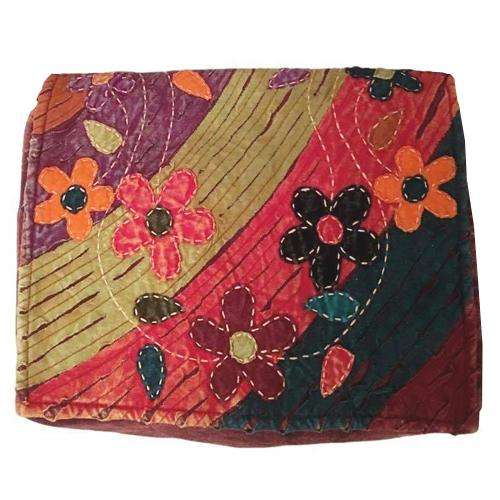 Meadow Bloom Razor Cut Flower Motif Messenger Bag