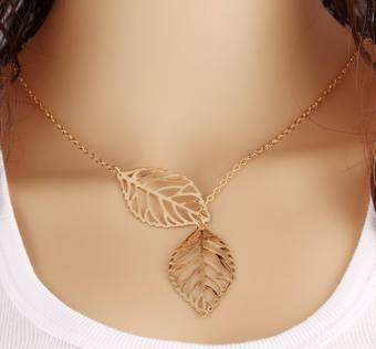 Nature Loving Hippie Leaf Necklace